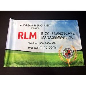 Golf Course Flag Custom - Single Sided - Pole Tube Sleeve.